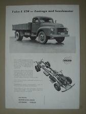 VOLVO  L 370  Lastvogn med benzinmotor  brochure/Prospektblatt  1956.