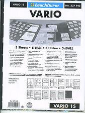 New Vario Stock Sheets 1S Two-Sided Single Pocket Black Pkg. 5
