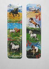 Horses 2pcs Cardboard Bookmarks 6.5'' lenght (16cm).