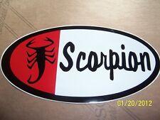 "1- 4"" X 7"" Vintage Scorpion  (New Remake Red, White and Black Vinyl Sticker)"