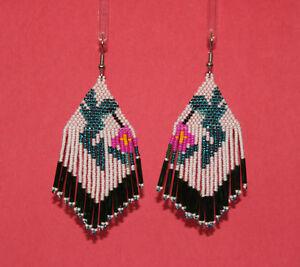 Green Hummingbird Beaded Earrings by Shirley Nelson, Navajo Quantity Discount