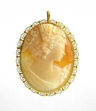 Victorian Cameo And Fourteen Karat Gold Pendant/Br Lot 172