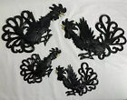 4 VINTAGE Sexton Metal Roosters Fighting Cocks Wall Plaques - 2 Pair 2 Sizes