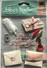 """Jolee's Boutique """"Love Letters"""" Valentine Seal With A Kiss Dimensional Stickers"""