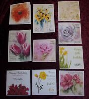 21st 30th 40th 50th 60th 70th 80th 90th 100th Floral Flowers Birthday Card