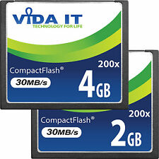 Super Fast Vida 2GB-4GB Compact Flash CF Memory Card 200x UDMA For SLR Camera UK