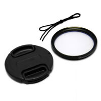 49mm Front Lens Cap Cover + UV Filter Combo for Canon Nikon Olympus Sony Camera