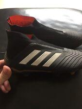 Adidas Predator 18+ Enfants Chaussures De Football Noir Et Blanc Taille: 4, sans lacets