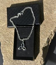 Celtic Triquetra Anklet Ankle Bracelet Handmade Silver Plated Ladies/Girls/Boys