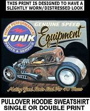 GENUINE JUNK SPEED EQUIPTMENT DEUCE HOT RAT STREET ROD SKULL HOODIE SWEATSHIRT