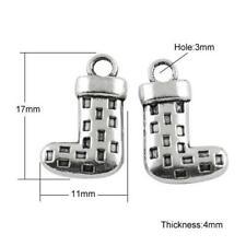 Sock Charm/Pendant Tibetan Antique Silver 17mm BULK 5 Packs x 10 Charms Crafts