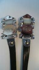 Vintage NOS Classic 80'S REG ITALIANO PEDALE Cinturini Nero per il vostro COLNAGO Cinelli