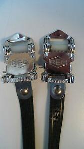Vintage NOS Classic 80's REG Italian Pedal Straps BLACK 4 your Colnago Cinelli B