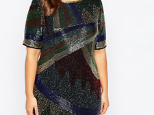 CURVE Disco Embellished Shift Dress Uk 24 RRP £95
