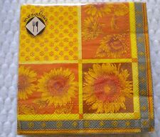Mesafina Brand Paper Cocktail Napkins 20 count FALL SUNFLOWER Theme