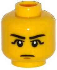 LEGO - Minifig, Head Black Eyebrows, Black Eye Shadow, Chin Dimple