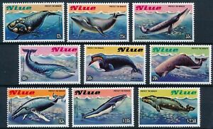 [P15653] Niue 1983 : Whales - Good Set Very Fine MNH Stamps in Blocks - $42