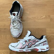 ASICS Mens Gel-Kayano 26, White Red Silver Running Sneakers Shoes, Size 10