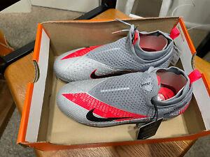 Phantom Vision 2 Elite Dynamic Fit MG/FG Gray Soccer Cleats CD4062-906 Size 5Y