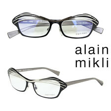 Alain Mikli Eyeglasses AL 1122 Col. MO4S Silver Black Grey Frame France 51mm