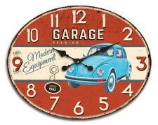 Orologio ovale ferro Garage rosso