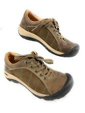 Keen Presidio Brown Leather, Nubuck Lace Up Walking Hiking Shoes Women's 7