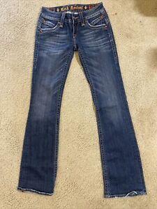 Rock Revival Gwen Boot Denim women jeans Size 27