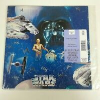 Vintage Star Wars Hallmark Gift Wrap Folded Wrapping Paper 1997 Empire Sealed