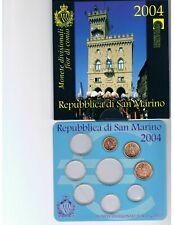 San Marino BU set 2004, 1 ct t/m 2 euro plus 5 euro