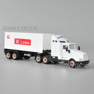 Welly 1:64 Diecast Truck Model Toy Kenworth T600 Aerocab Tractor With Container