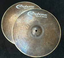 "Bosphorus Black Pearl 14"" Hihat Becken Top 920g  Bot.1080g Piatto cymbale Cymbal"