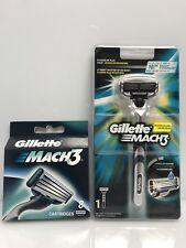 9x Gillette MACH3 Rasierklingen + Rasierer  Original Klingen neu