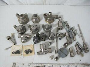 Large lot of Misc Paint Air Sprayer Gun parts-Tips, springs, Air Caps,-See Pics