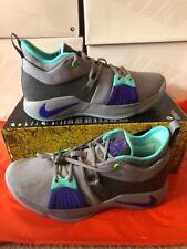 Nike PG 2 Pure Platinum Neo Turquoise AJ2039 002 Men SZ 8 Play Station