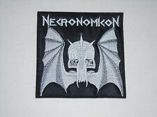 NECRONOMICON DEATH METAL EMBROIDERED PATCH