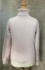 BONPOINT Pinky Tan DELICATE SILK CASHMERE Turtleneck Sweater Top 8 6/7