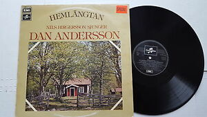 NILS BIRGERSSON - Sjunger Dan Andersson HEMLANGTAN Sweden Folk 1976 (LP)