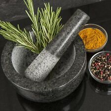 Homiu Premium Solid and Durable Natural Granite Pestle and Mortar Spice Herb Cru