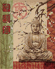 Cross Stitch Kit ~ Dimensions Buddha Statue Purity, Strength, Truth #35220