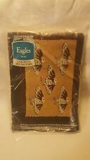 """VINTAGE New Aunt Lydia's Eagles Colonial Rug Pattern Canvas #202 Size 24""""x36"""""""