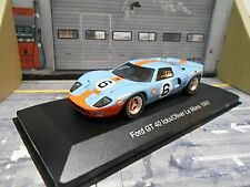 FORD GT40 Racing 24h Le Mans 5.0 V8 1969 Winner Gulf #6 Ickx Oliver WB IXO  1:43