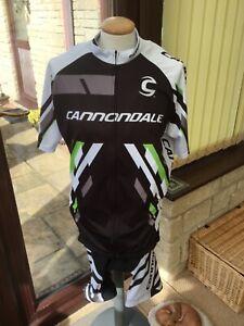 Men's Cannondale Short Bib & Jersey Set - Size L - Hardly Worn