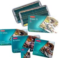 New! 36 or 72 Colours Derwent ARTISTS Pencils Tin Set Adult Colouring Books