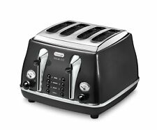 DeLonghi Ctom4003 Micalite 4 Slice Toaster Black 1800w With Defreost & Reheat