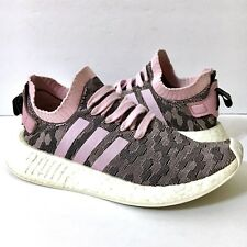 ADIDAS NMD R2 Women's Boost Primeknit Running Training Shoes BY9521 Pink Sz 6.5