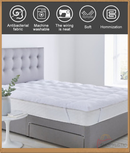 "Mattress Alternative Topper 4"" Deep 10 Cm Thick Hotel Quality Soft Warm All Size"