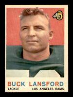 1959 Topps Football Set Break # 152 Buck Lansford EX-MINT *OBGcards*