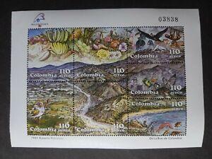 Colombia: Philexfrance 89 International Stamp Exhibition, Paris; mint mini sheet