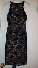Free People AJE Black Marabou Lace Dress Size 6 NWT $790 Formal Below the Knee