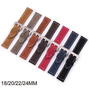18mm 20mm 22mm 24mm Retro Genuine Leather Watch Band Vintage Wrist Strap